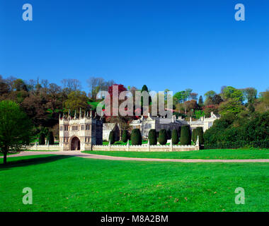 Gateway to Lanhydrock house, Cornwall, England, UK - Stock Image