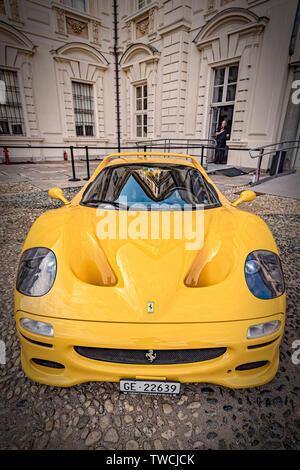 Piedmont Turin - Turin auto show 2019  - Valentino park - Valentino castle  -Ferrari F50 - Stock Image