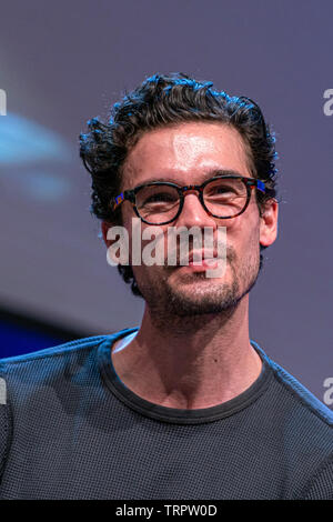Bonn, Germany - June 8 2019: Steven Strait (*1986, American actor and model - The Expanse) at FedCon 28, a four day sci-fi convention. FedCon 28 took place Jun 7-10 2019. - Stock Image