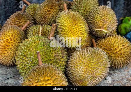 Durian Fruits in Kuala Lumpur, Malaysia - Stock Image