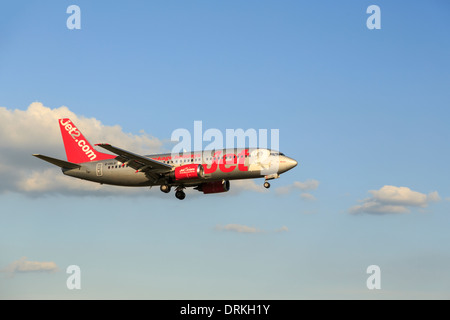 Jet2 Boeing 737 to land - Stock Image