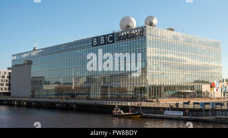 The BBC Building at the riverside in Glasgow, Scotland - Stock Image