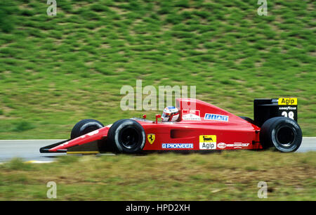 1991 Jean Alesi French Ferrari 642 Spa Belgian GP dnf - Stock Image