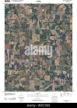 USGS TOPO Map Kansas KS Nortonville 20091101 TM Restoration - Stock Image