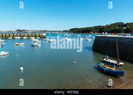 Douarnenez, France - August 2, 2018: The fishing port a sunny day of summer - Stock Image