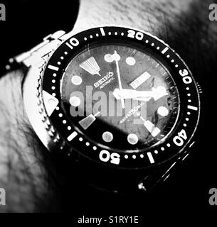 40 year old watch stil ticking like a ... clock! - Stock Image