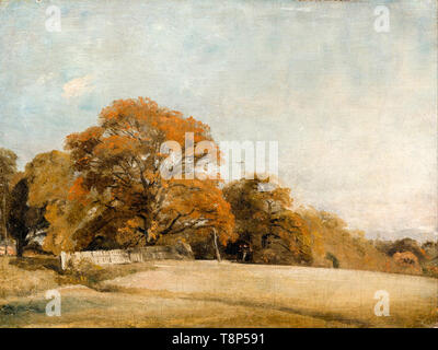 John Constable, An Autumnal Landscape at East Bergholt, painting, c. 1805 - Stock Image