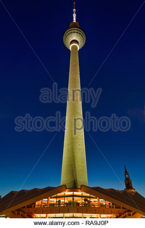 TV Tower in Berlin (TV Tower located on the Alexanderplatz in Berlin, Germany) - Stock Image