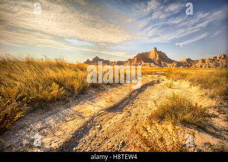 Badlands National Park, South Dakota, USA, Desert landscape, - Stock Image