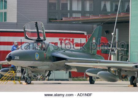 Zeltweg 2005 AirPower 05 airshow Austria Hawker Hunter T MK 68 - Stock Image