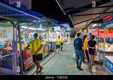 City Night Market, Fresh Food Market, Krabi town, Thailand - Stock Image
