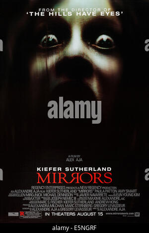 MIRRORS, US advance poster art, 2008, TM & Copyright © 20th Century Fox Film Corp. All rights reserved/courtesy - Stock Image