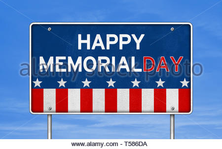 Happy Memorial Day - American federal holiday - Stock Image