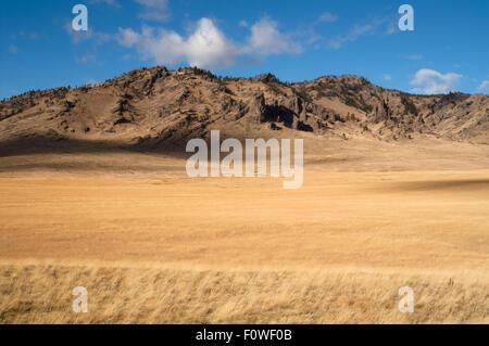 The rugged ranchland landscape of the upper northwestern United States - Stock Image