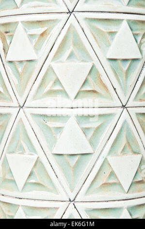 Ceramic tiles on a pillar as a background image - Stock Image