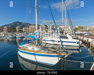 Sports Port.  Puerto Deportivo.  Marbella, Costa del Sol, Malaga Province, Andalusia, southern Spain. - Stock Image