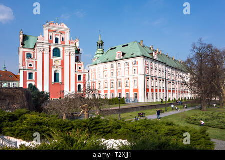 Former Jesuit College & Parish Church. Poznan. Poland - Stock Image
