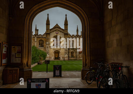 Corpus Christi college chapel in Cambridge (England) - Stock Image
