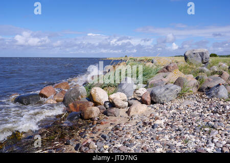 Kihnu coastline. Island Kihnu, Estonia, Baltic States, 5th August 2017 - Stock Image