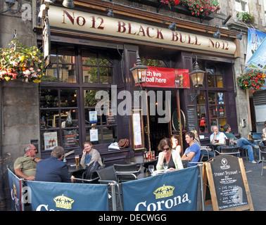 No 12,Black Bull,12 Grassmarket, Old Town, Edinburgh EH1 2JU,Scotland,UK - Stock Image