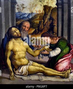 Deposizione di Cristo - Deposition of Christ by Girolamo Marchesi 1466-1534 Italy, Italian. - Stock Image