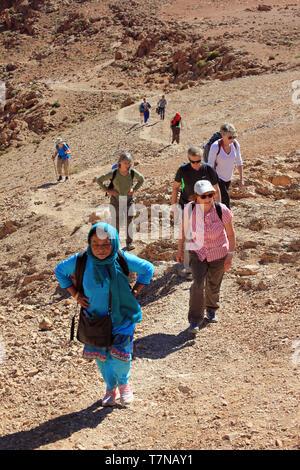 Trekking in The Atlas Mountains - Stock Image
