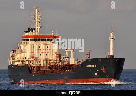 Chemical/Oil Products Tanker Copenhagen inbound Kiel Fjord - Stock Image
