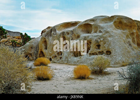 Joshua Tree  National Park in California. Rock formations resembles  abstract sculpture. - Stock Image