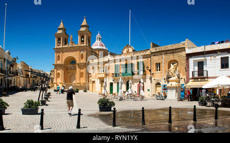 Marsaxlook, Malta, Our lady of Pompei Church, - Stock Image