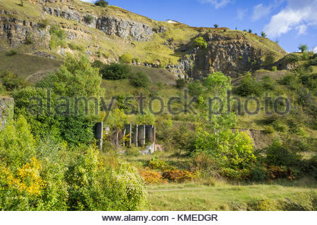 Disused Clydach Limeworks, Clydach Gorge, Monmouthshire, Wales, UK - Stock Image