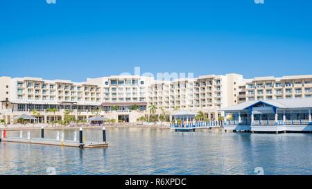Beautiful waterfront hotel in Varadero Cuba. - Stock Image