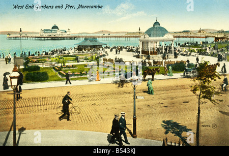 Old vintage seaside picture postcard  EDITORIAL USE ONLY - Stock Image