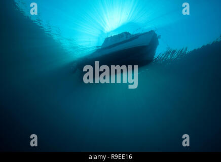 C-Dory Tomcat from thirty feet below - Stock Image