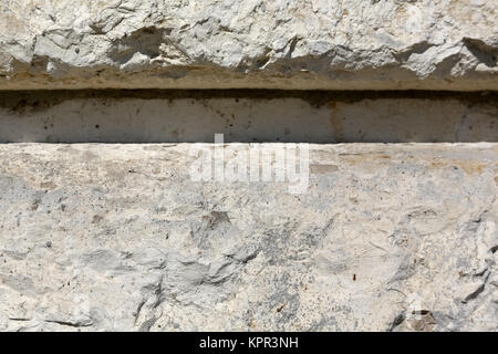 The sandstone block is a stone background - Stock Image