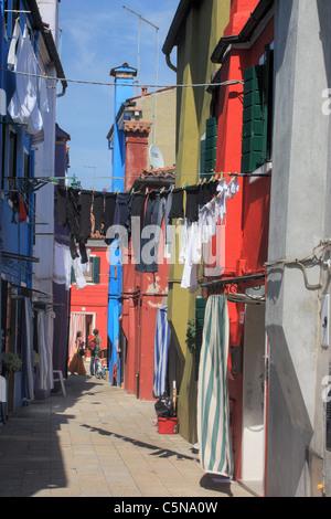 Burano Island, Venice, Italy - Stock Image