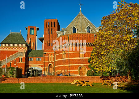 The Royal Shakespeare Theatre in Stratford upon Avon, Warwickshire - Stock Image