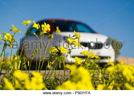 Smart car in Ibiza, Spain. - Stock Image