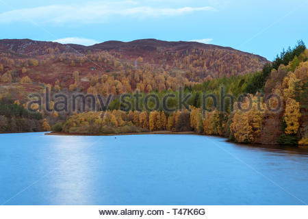 Man-made hydro-electric dam above Pitlochry - Stock Image