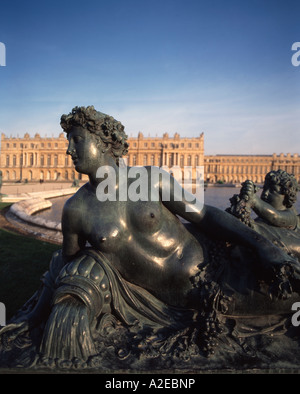 Paris France Versailles statue - Stock Image