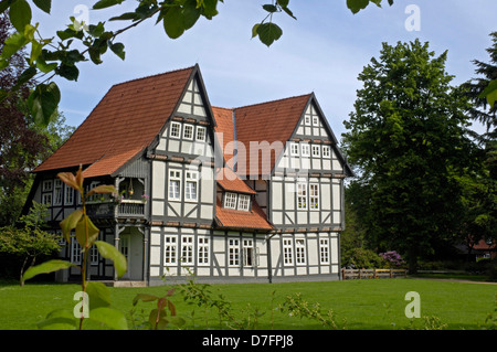 Germany, Lower Saxony, Celle, French garden - Stock Image