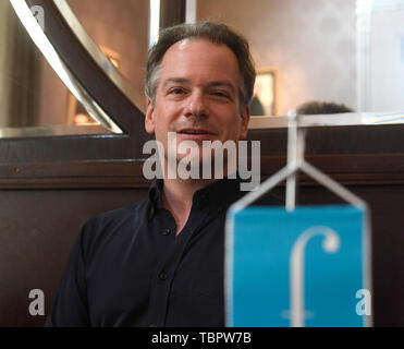 Prague, Czech Republic. 03rd June, 2019. Emmanuel Pahud, French-Swiss flute player, attends a press conference within the 74th Prague Spring international music festival, on June 3, 2019, in Prague, Czech Republic. Credit: Michal Krumphanzl/CTK Photo/Alamy Live News - Stock Image