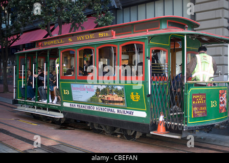 Tram,San Francisco,California,Cable Car - Stock Image