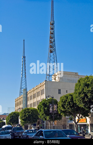 Pacific Building Hollywood Los Angeles CA California United States USA - Stock Image