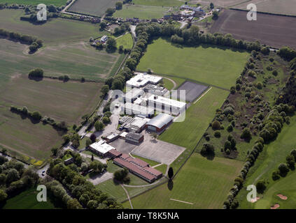 aerial view of Royds School, near Oulton & Rothwell, West Yorkshire, UK - Stock Image