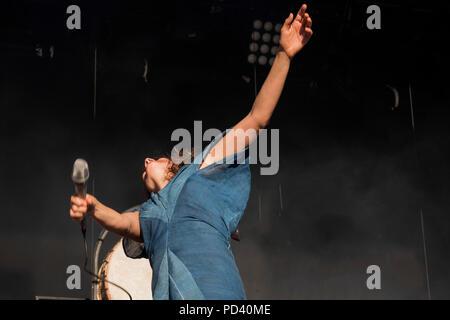 Camille, Festival Bout du Monde à Crozon Brittany - Stock Image