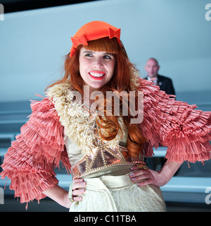 Singer Paloma Faith attends the PPQ autumn 2011 collection at the BFC Showspace at Somerset House in London on 18 - Stock Image