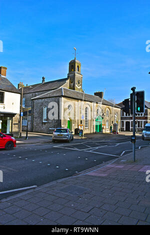 Cowbridge Town Hall dates back to possibly 16th century & was a prison until 1830 when it became the town hall used by the council. - Stock Image