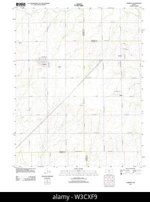 USGS TOPO Map Kansas KS Norwich 20120910 TM Restoration - Stock Image