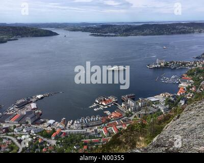 Bergen, Norway. 05th June, 2015. Super yacht Eclipse owned by the Russian Chelsea owner  Roman Abramovitsj, arrived - Stock Image