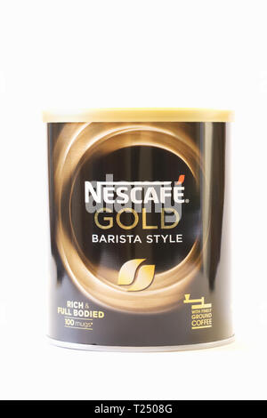 Nescafe Gold Barista Style coffee. - Stock Image